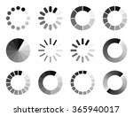 set of modern preloaders   Shutterstock .eps vector #365940017