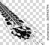 tire tracks | Shutterstock .eps vector #365943794