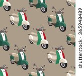 retro motor scooter . seamless... | Shutterstock .eps vector #365948489