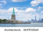 the statue of liberty and... | Shutterstock . vector #365953064