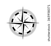 compass dial   highly detailed... | Shutterstock .eps vector #365958371