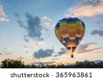 hot air balloon is flying at... | Shutterstock . vector #365963861