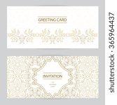 vector decorative frame.... | Shutterstock .eps vector #365964437