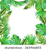 jungle border blank frame with... | Shutterstock . vector #365966855