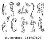 stucco elements   Shutterstock .eps vector #365967809