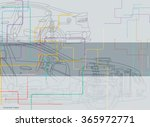 abstract technical car drawing... | Shutterstock .eps vector #365972771