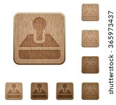 set of carved wooden retro...