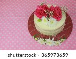 floral cake. the concept of
