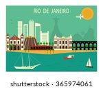 rio de janeiro  in brazil.... | Shutterstock .eps vector #365974061