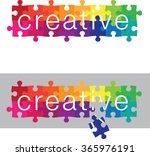 jig saw puzzle   puzzle design | Shutterstock .eps vector #365976191
