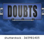 doubts or second thoughts ... | Shutterstock . vector #365981405
