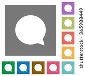 chat flat icon set on color...