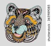abstract bear portrait. ornate...   Shutterstock .eps vector #365989085
