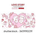 doodle design style concept of... | Shutterstock .eps vector #365990159