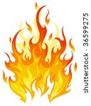 isolated vector fire | Shutterstock .eps vector #36599275
