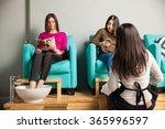 good looking couple of women... | Shutterstock . vector #365996597