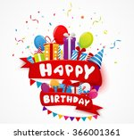 birthday celebration elements... | Shutterstock .eps vector #366001361