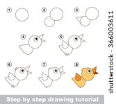 drawing tutorial. how to draw a ... | Shutterstock .eps vector #366003611