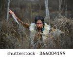 fashion shot of a beautiful... | Shutterstock . vector #366004199