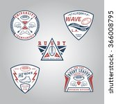 set of rugby badges. handmade... | Shutterstock .eps vector #366008795