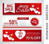 sale header or banner set with... | Shutterstock .eps vector #366011561