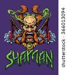 shaman poster vector... | Shutterstock .eps vector #366013094
