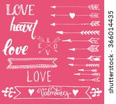 happy valentines day elements... | Shutterstock .eps vector #366014435