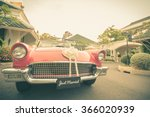 just married sign with vintage... | Shutterstock . vector #366020939