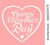 happy valentine's day with... | Shutterstock .eps vector #366025475