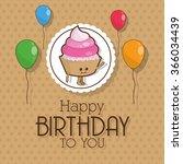 happy birthday design  | Shutterstock .eps vector #366034439
