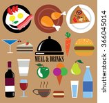 meal  food and drinks. | Shutterstock .eps vector #366045014