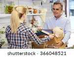 man donating unwanted items to... | Shutterstock . vector #366048521