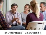 members of support group... | Shutterstock . vector #366048554