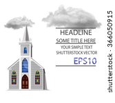 religious booklet with church | Shutterstock .eps vector #366050915