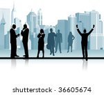 business people. raster version ... | Shutterstock . vector #36605674
