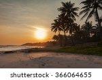 beautiful sunset tropical beach ... | Shutterstock . vector #366064655
