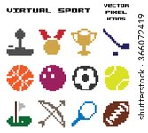 vector illustration   pixel art ... | Shutterstock .eps vector #366072419