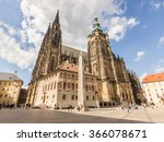 St. Vitus Cathedral At Prague...