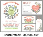 wedding design template set... | Shutterstock . vector #366088559