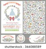 wedding design template set... | Shutterstock . vector #366088589