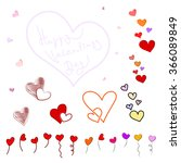 set of different hearts... | Shutterstock .eps vector #366089849