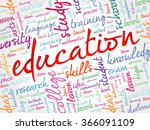 education word cloud collage ...
