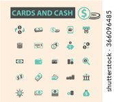 cards  cash  money  payment ... | Shutterstock .eps vector #366096485
