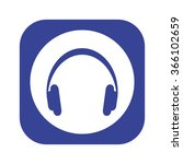 headphone icon  vector... | Shutterstock .eps vector #366102659