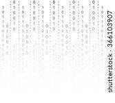 flat binary code screen listing ... | Shutterstock .eps vector #366103907