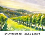 Watercolor Painted Illustratio...