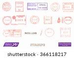 postage meters  rubber stamps  ... | Shutterstock . vector #366118217