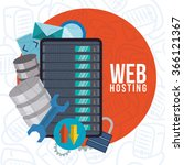 web hosting and data security... | Shutterstock .eps vector #366121367