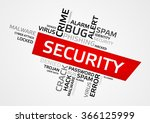 security word cloud  tag cloud  ... | Shutterstock .eps vector #366125999