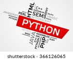 python word cloud  tag cloud ... | Shutterstock .eps vector #366126065
